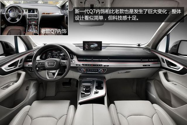 全新一代奥迪q7官图图解   新一代q7配备了全新三幅式多功高清图片