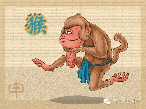 猴年中国十二生肖年份之一,猴是十二生肖当中排名九的动物.