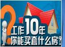 工作十年能买什么房?