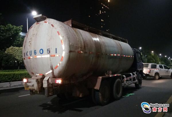 一车泥浆水疏通费达2万 广州一槽罐车或被罚10万