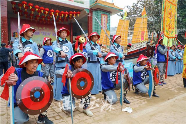 """湛江这条村惊现""""龙门阵"""" 重现300多年水师雄风"""