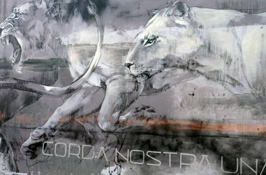 画面让观众明显感受到大型猫科动物的灵敏 faith47在wynwood墙上的