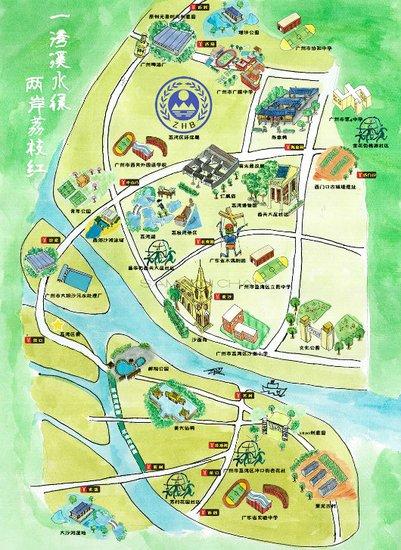 该地图还推荐了一条绿道骑行线路图片