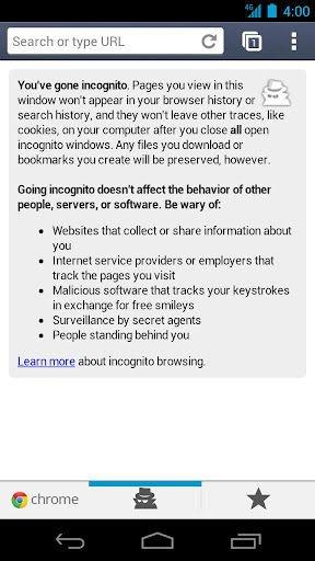 谷歌正式发布Android版Chrome(仅限Android 4)