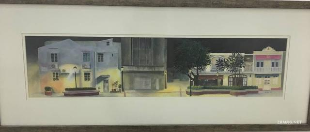 土生画家苏文乐 用水彩感受澳门夜间