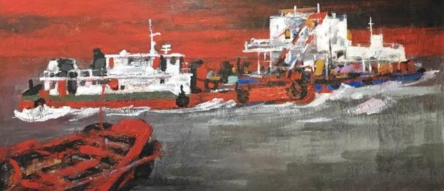 陈许港珠澳大桥主题油画展作品鉴证备案活动在广州举行
