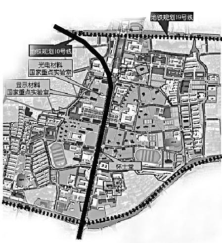 广州市地铁10号线规划图.网络资料-中大反对地铁10号线穿过校园 会