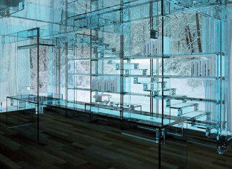 看了意大利设计工作室 santambrogio 所设计的玻璃屋,才瞬间意识到图片