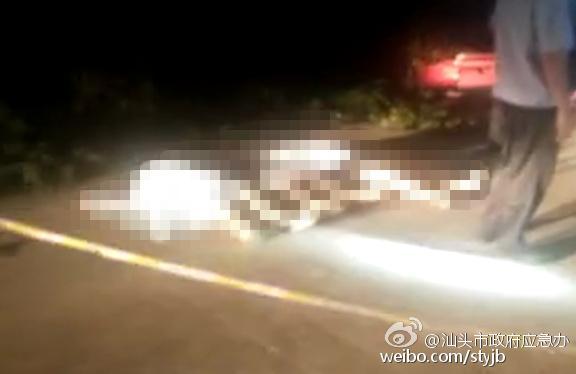 汕头一辆小车凌晨冲进水沟 车上3名女子身亡