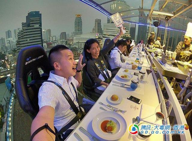 花五千泰铢被吊上半空晚餐 江美仪:何来的勇气