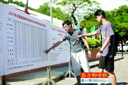 深圳考生踩点:我来回走了3次门口到教室的路