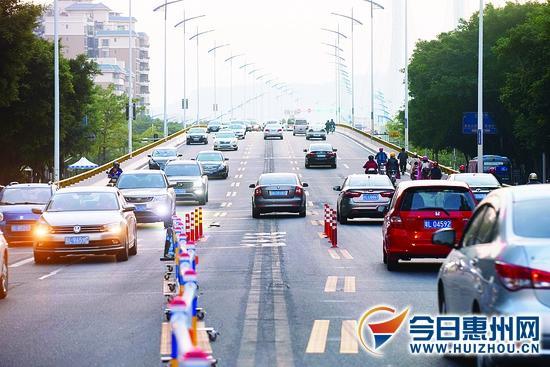 合生大桥今起潮汐通行 主桥面调整为双向七车道