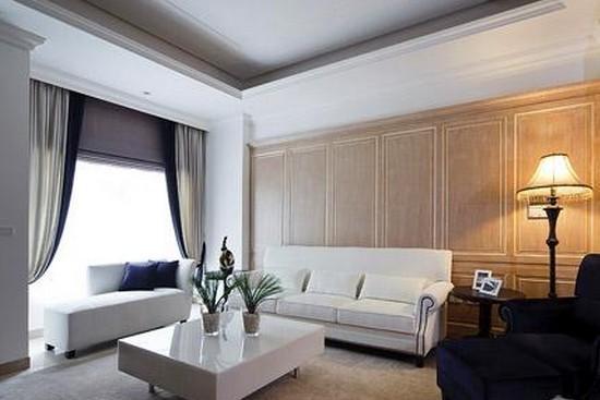美式古典风格窗帘装修效果图图片