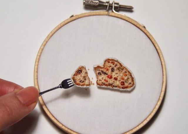 用针线代替画笔 刺绣织成的日本传统美食