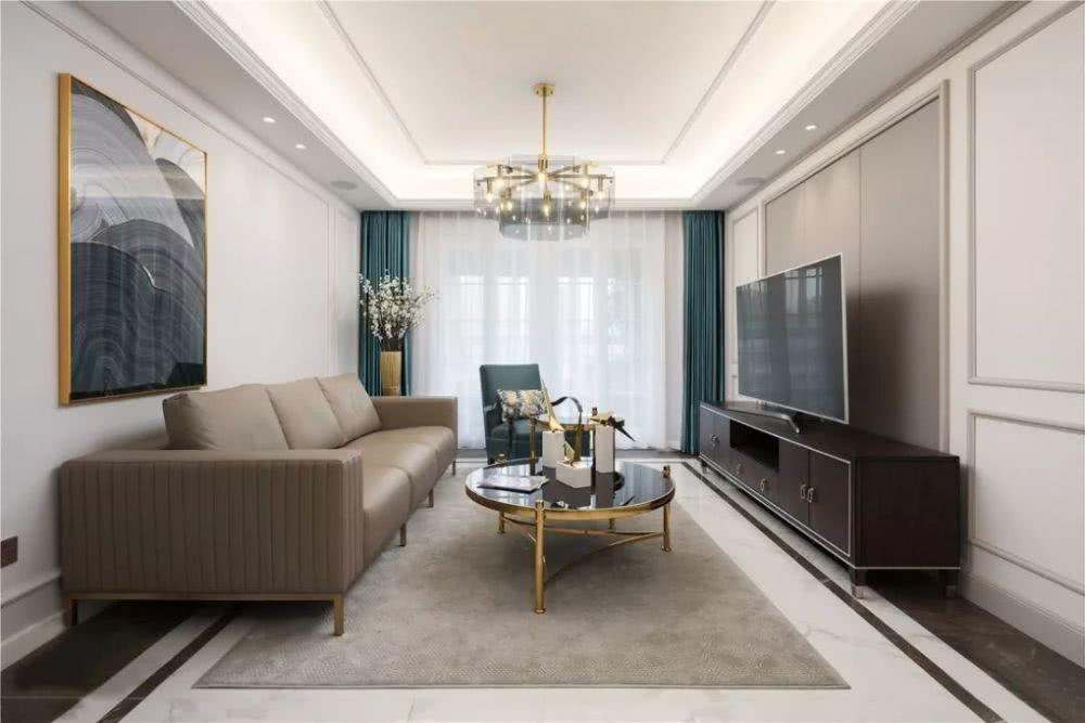 120㎡美式风格装修,年轻人的优雅之家