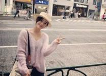 袁姗姗晒街头漫步照笑容温暖,照片都是男友视角