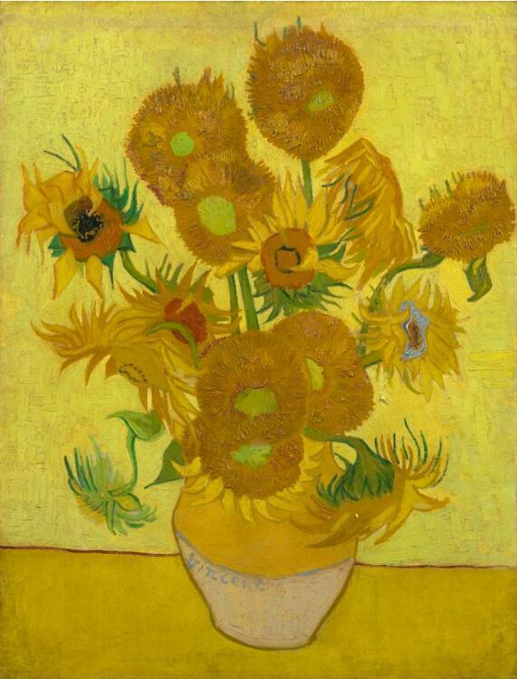 1889.图片:致谢阿姆斯特丹梵高博物馆-梵高的向日葵正在慢慢褪