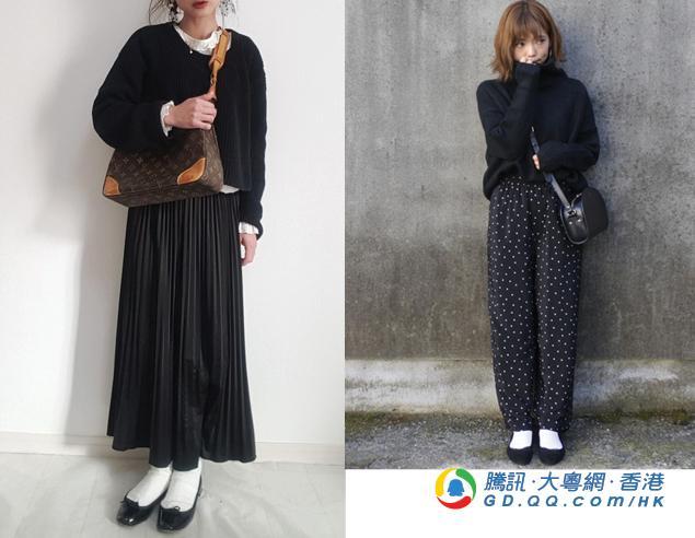 跟日本潮妹穿平地鞋配白袜 绝对没大妈味