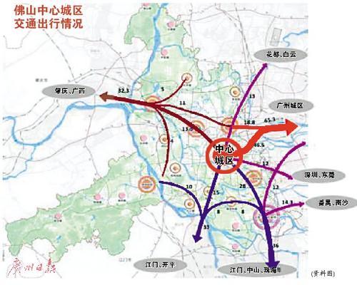 山中心区枢纽新规划 七个方向出行路转 轨