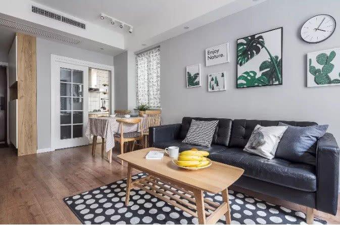 69平米北欧风小户型二居室 从细节展现格调更加舒适