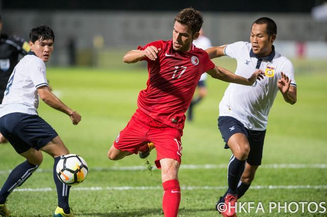 国际友谊赛 中国香港队四比零大炒老挝国家队