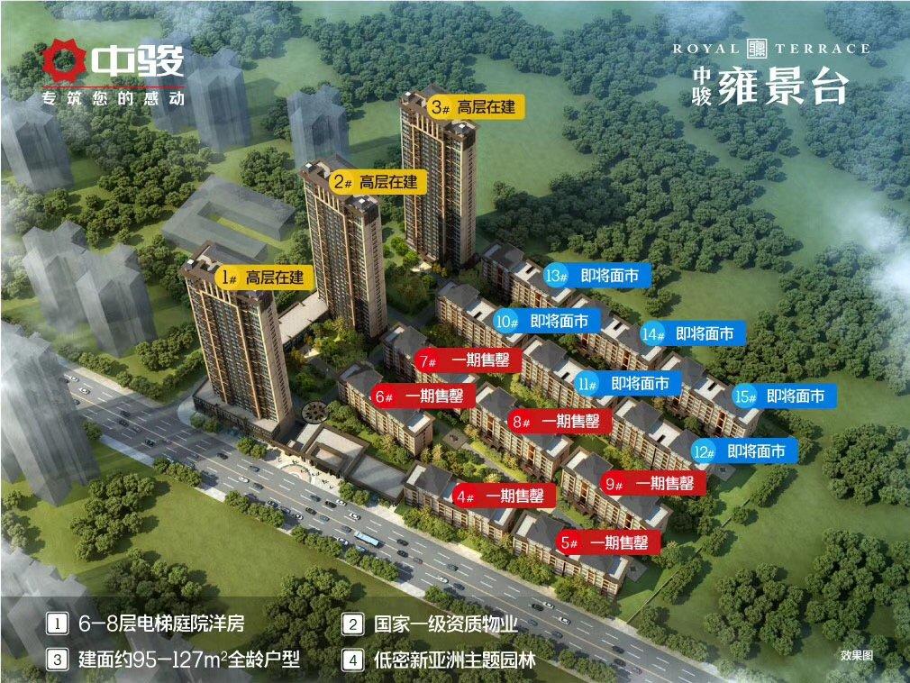 中骏雍景台二期建面128㎡户型预计月底推出