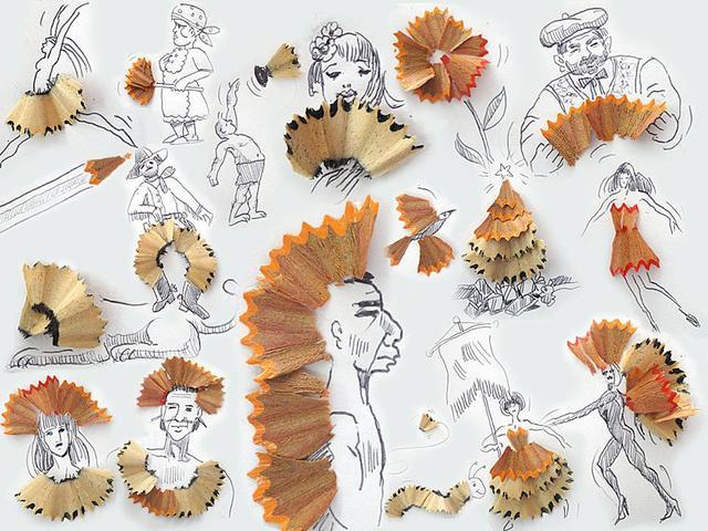 Victor Nunes创意绘画 许多的脸