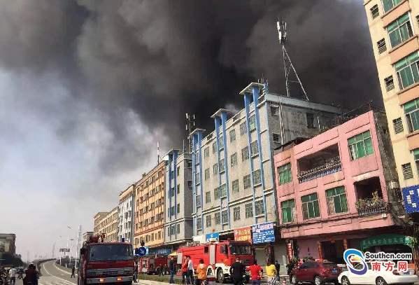 中堂一厂房发生火灾 疑因电线短路导致