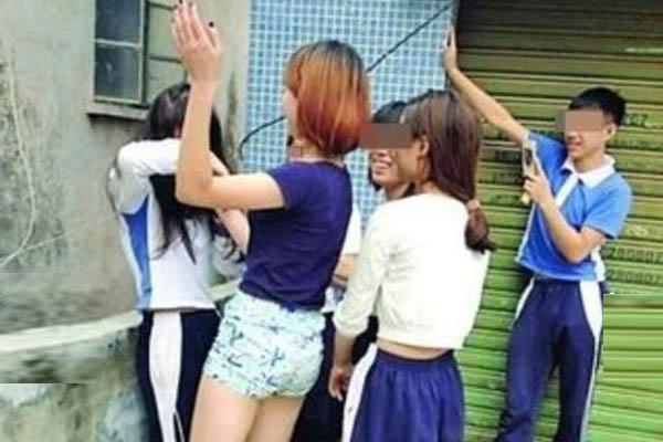 汕头13岁少女被逼脱校服猥亵 男生在一旁录视频