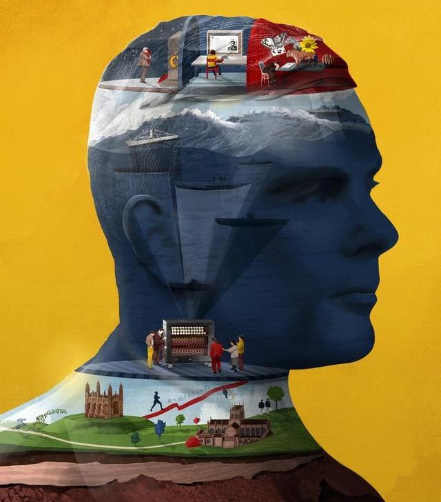 插画家Sam Falconer为你剖析科学巨星们的大脑 Scientific Greats