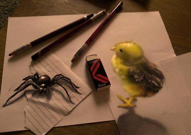 拉蒙·布鲁因的立体铅笔画