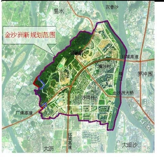 新规划也提出未来金沙洲的人口为18.3万,比原控规增加1.