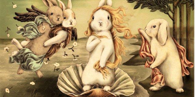 可爱的极简主义又玩?!当兔子遇上世界名画