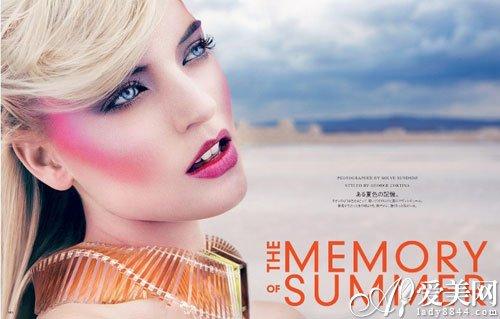 """时尚频道 时尚美容 正文     """"the memory summer""""大片把夏日彩妆的图片"""