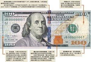 新版100元美钞_新版百元美钞面世 3d防伪 10年研制防伪技术