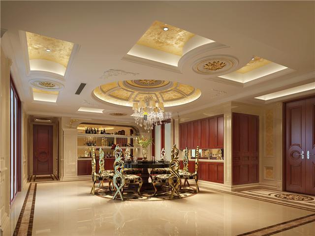 波托菲诺纯水岸欧式风格豪宅装修设计图片