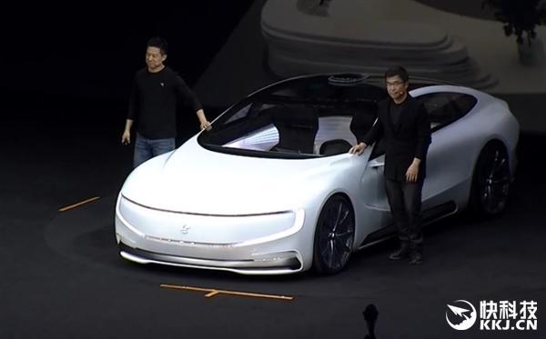 乐视超级汽车实现自动驾驶 贾跃亭在现场哭了高清图片