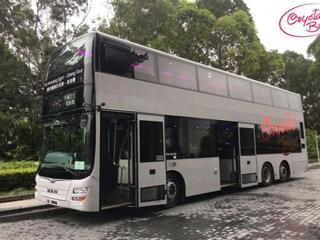 香港首创水晶双层巴士 边吃边玩走遍经典景点