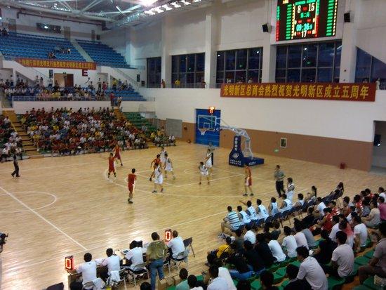 阴暗中新区成立五周年活触动——父亲型篮球赛举行