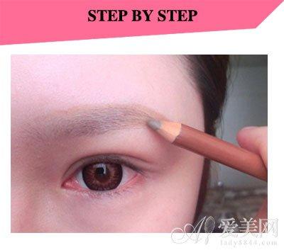 眉和画眉的步骤