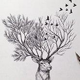 超现实风格素描插画(组图)