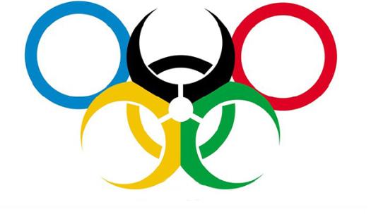 五环迎接里约奥运图片