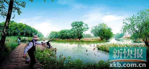 垂钓鱼塘规划效果图 图片合集图片