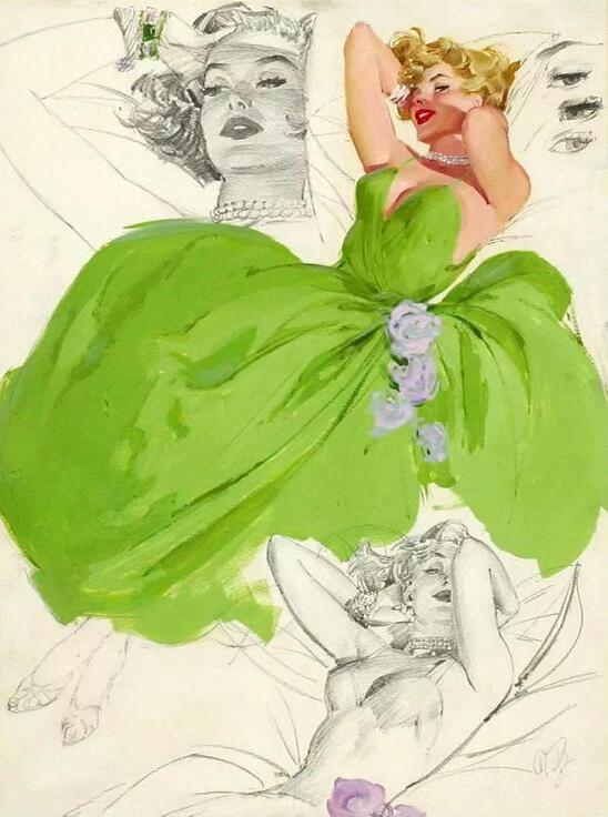 这位插画家笔下的女孩个个性感漂亮阳光