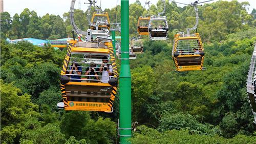 空中缆车全线免费 2017年,长隆野生动物世界推出亚洲首创空中720度