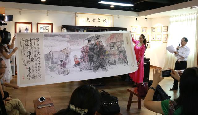 """岑圣权""""广府情""""中国人物画作品展即将亮相莫斯科"""