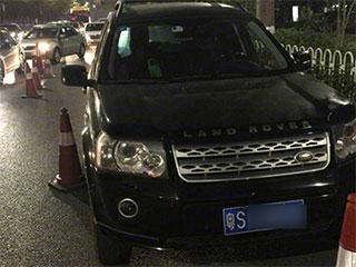 """路虎司机被拦 深圳交警称""""醉王""""诞生"""