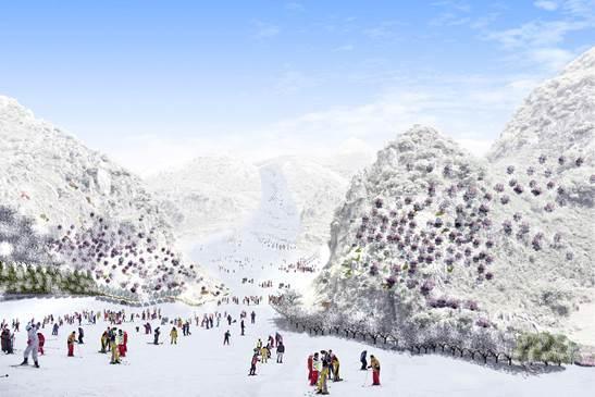 不仅如此近年来六盘水还重点打造了玉舍雪山滑雪场梅花山国际滑雪场