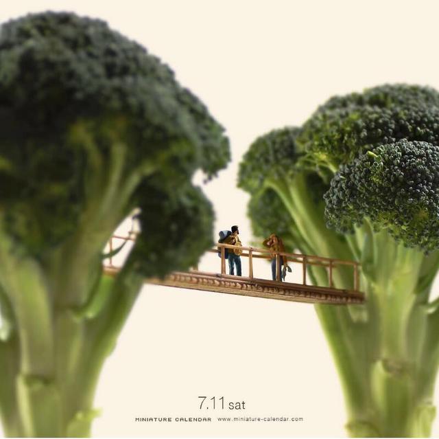 日本创意微缩摄影师 Tanaka Tatsuya 的生活记录拍摄