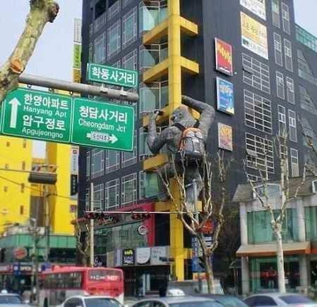 """韩国首尔江南区狎鸥亭洞的""""整容一条街"""""""